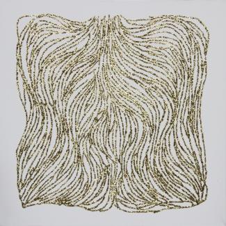 paillettes or collées sur toiles acrylique