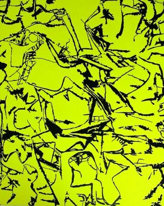 Duochrome  Willem de Kooning  Noir-Jaune fluo