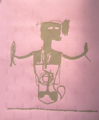 Monochrome Jean-Michel Basquiat  Poussière