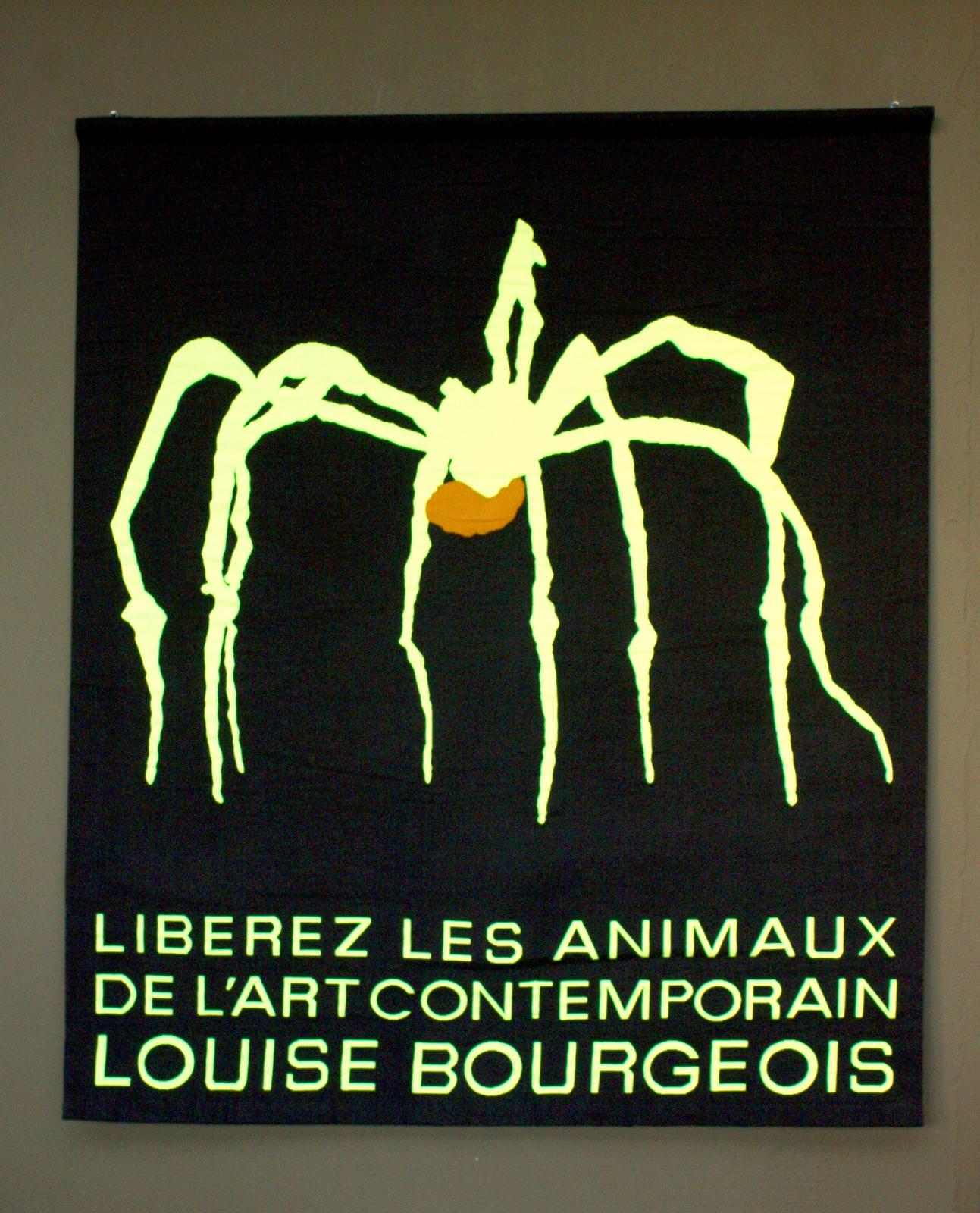 pascal-lievre-liberez-les- animaux-de- l-'-art-contemporain- louise-bourgeois-2009-tapisserie-numerique- aubusson-neolice