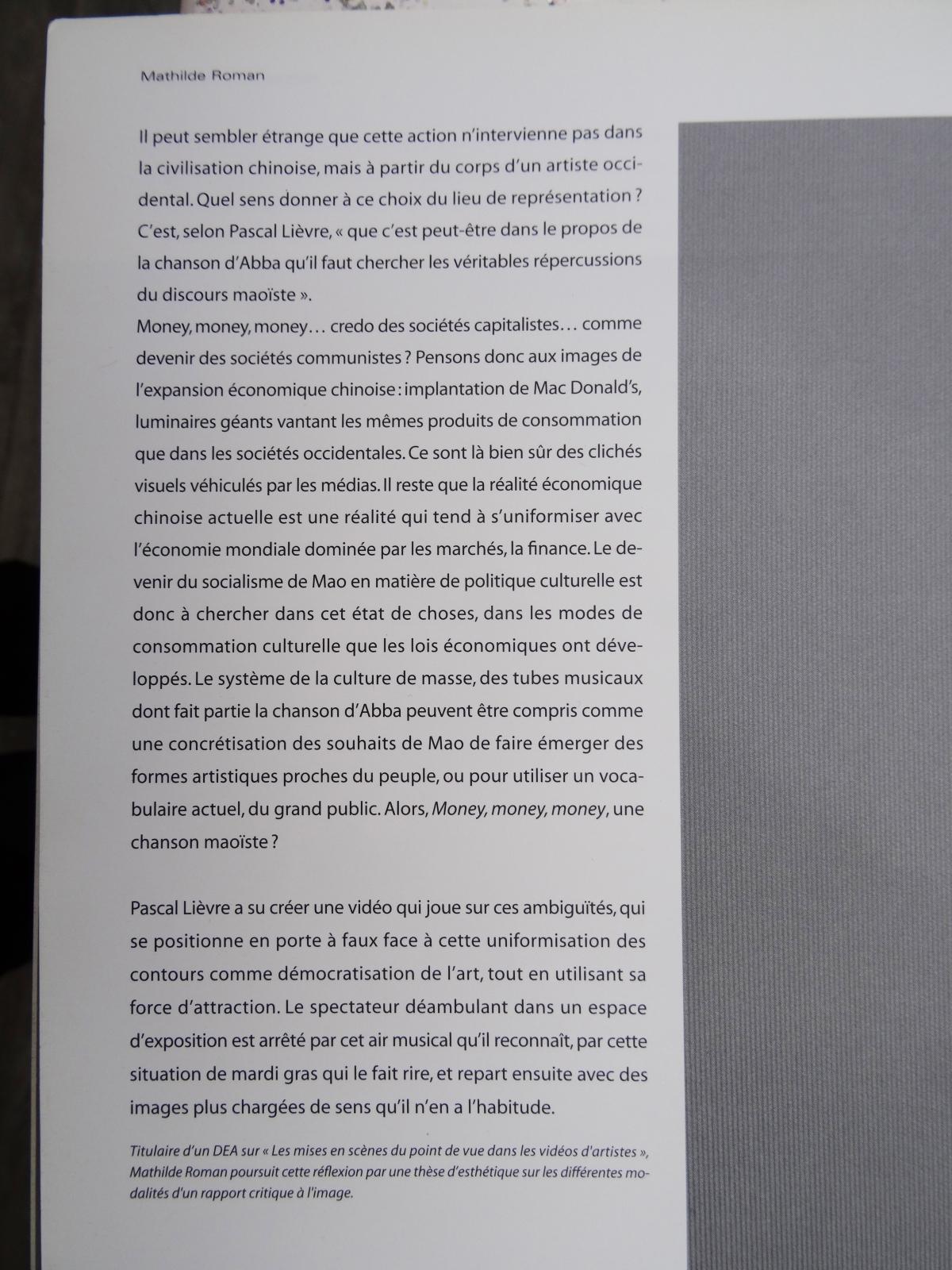 pascal lievre texte mathilde roman art presence