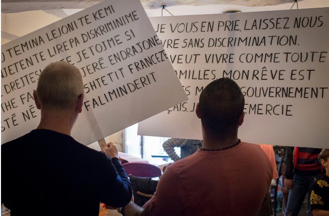 pascal-lievre-arnaud-chochon-marche-des-visibiltes-migrantes-auriignac-retirada-abattoirs-2019