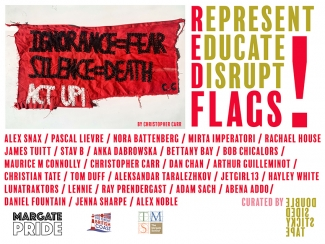 red-flag-exhibition-pascal-lievre-margate-school